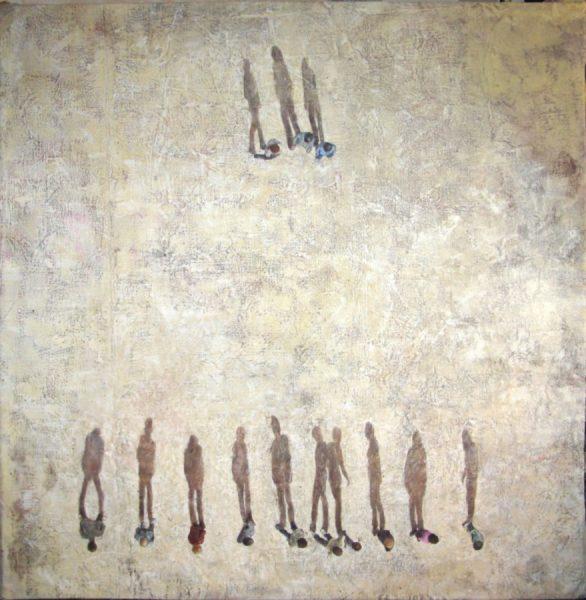 Gangs, 2016, Vinilico su lino, cm175x180