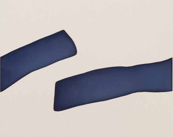 Landon Metz, Untitled, 2015, vernice su tela, cm 84x105