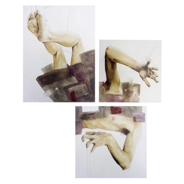 Mauro Molle, Atterraggio, olio su tela