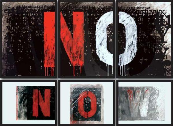 Luciano Puzzo, No / Now, tecniche miste, 2015