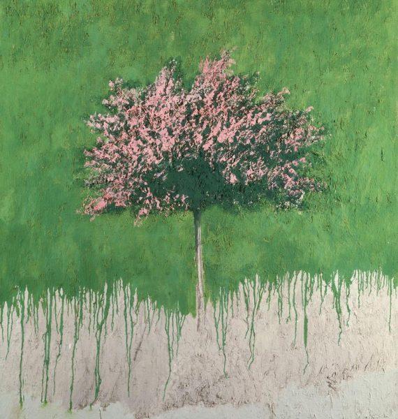 Carlo Mattioli, Paesaggio, 1980, olio su tela, 150x120 cm