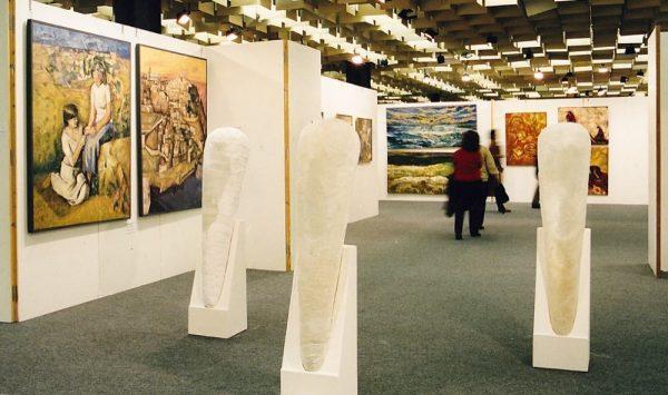 Opere esposte nella Fortezza da Basso (Firenze) alla Florence Biennale.