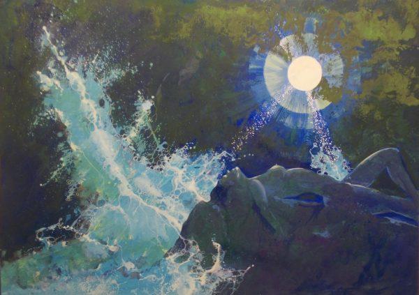 Bruno Zappi, Alta marea, 1985, tempera, 70x100