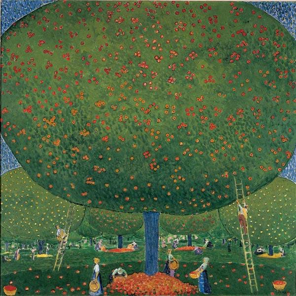 Cuno Amiet, La raccolta delle mele (Apfelernte) 1907, olio su tela, 100 x 100,5 cm