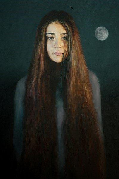 Jara Marzulli, La giovane Maddalena, 2017, acrilico e olio su tela, cm. 80x60