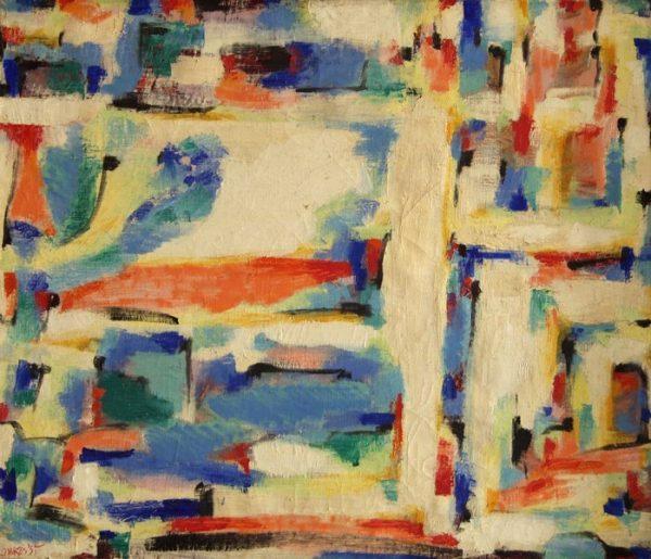 Piero Dorazio, ST, 1955, olio su tela, cm. 60x70