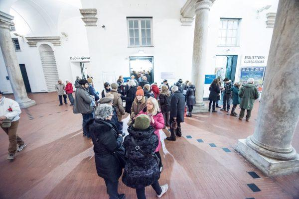 lo Spazio46 di Palazzo Ducale visto dal cortile del Ducale