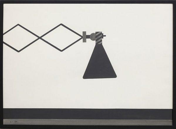 Alighiero Boetti, Lampada, 1965, inchiostro di china su carta, 70x100 cm