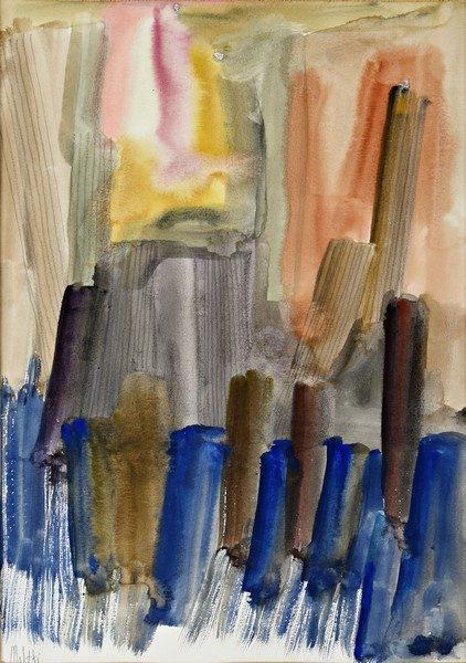 Fausto Melotti, Senza titolo, tecnica mista su carta, cm. 35x25 circa