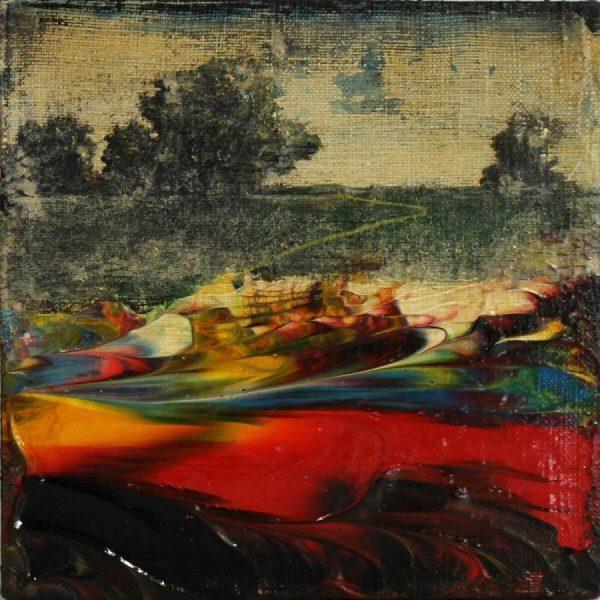 Jernej Forbici, Black Box, 2018, Acrilico e olio su tela, 15x15