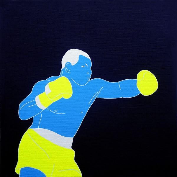 Fosco Grisendi, Confidence #3, acrilico su tela di juta, 2018, cm. 50x50