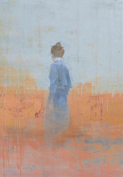 Untitled I, 2017, acrilico su tela, 78x57cm