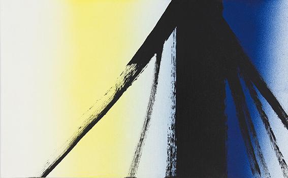 Hans Hartung, T1977-E2, acrilico su cartone, 1977