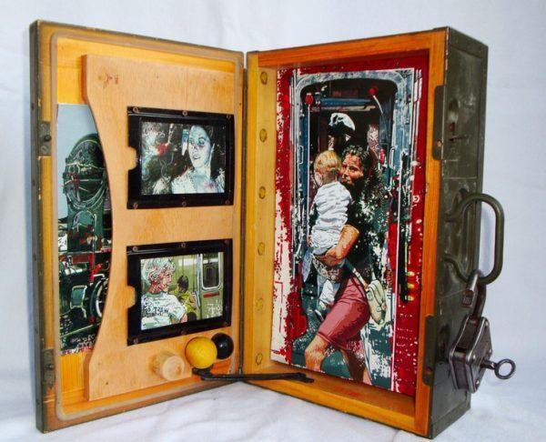 Attilio Braglia, Installazione in cassetta militare, cm. 35x22x11
