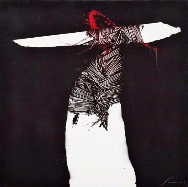 Emilio Scanavino, Presenza 6, 1978, olio su tela, cm 100x100