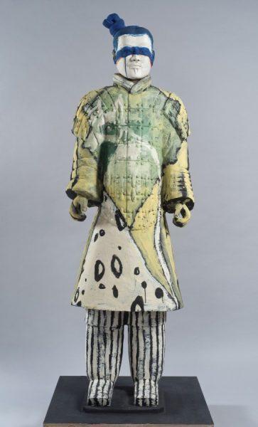 Sandro Chia_Guerrieri di Xi'an_Guerriero_2010_terracotta policroma_190cm ca. 4a