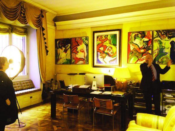 la home gallery di via Sant'Agnese 18 Milano