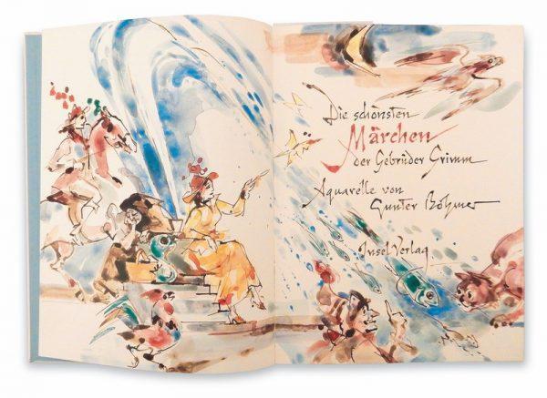 Gunter Böhmer, frontespizio per Favole dei Fratelli Grimm, Insel Verlag