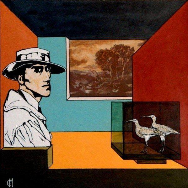 Enrico Manicardi, Musei Civici, 2010, olio e acrilico su tavola, cm 80x80