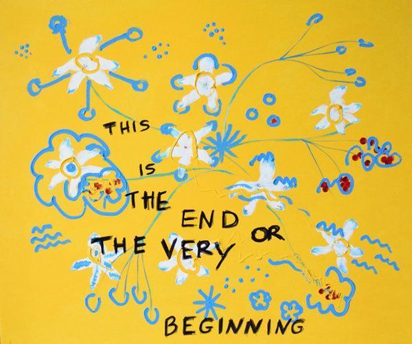 Emma Bortone, The Very Beginning, 2019, acrilico su tela, 100x120cm