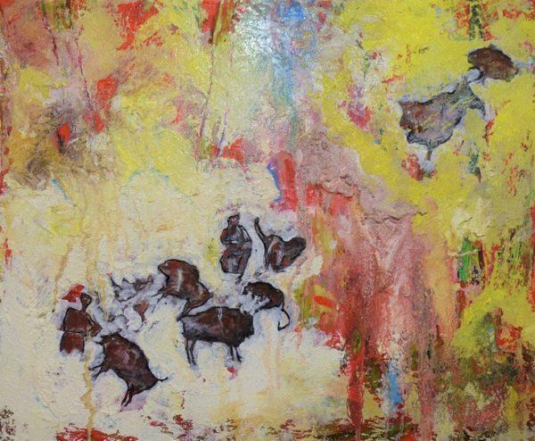 Michael Peddio, Gioco di Forze, 2019, tecnica mista, cm. 50x60