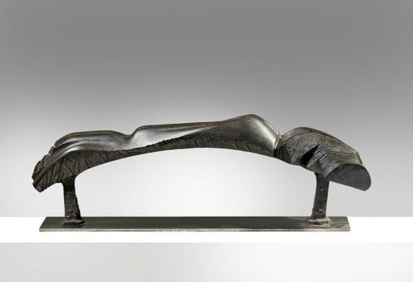 Guido Pinzani, Nudo paesaggio, 1989, bronzo, esemplare unico, cm 34x105x24