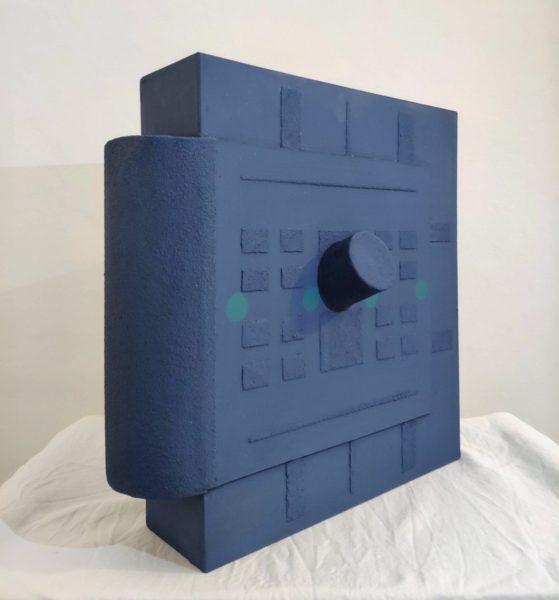 Telo, Capsula del tempo, 2020, tecnica mista su legno, cm. 40x40x10 (Copia)